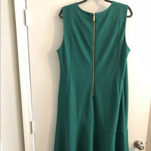 Plus Size Calvin Klein Emerald Green Dress 18W